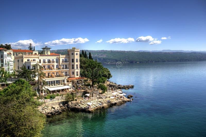 Beira-mar em Opatija imagem de stock royalty free