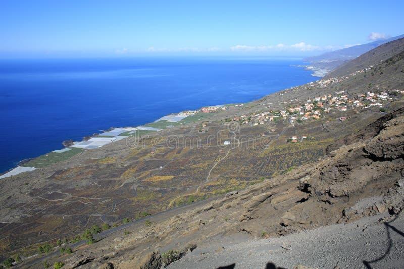 Beira-mar no La Palma Island, Espanha fotografia de stock royalty free
