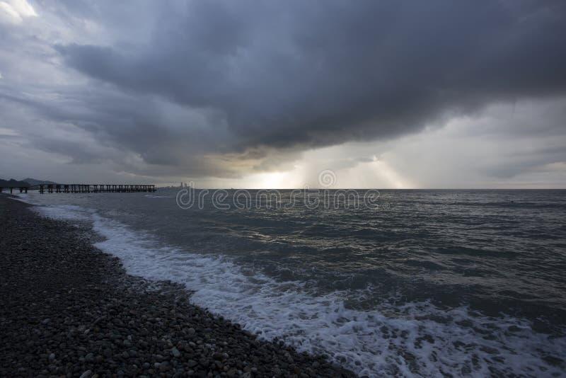 Beira-mar perto de Batumi, Geórgia fotografia de stock