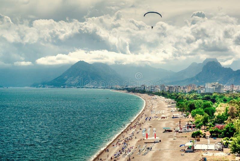 Beira-mar Turquia de Antalya imagens de stock