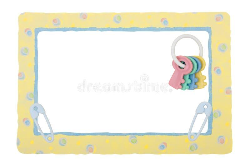Beira modelada amarelo do bebê foto de stock royalty free