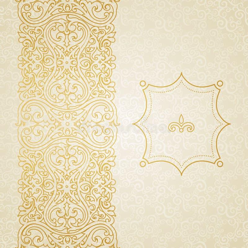 Beira ornamentado do vetor no estilo vitoriano ilustração royalty free
