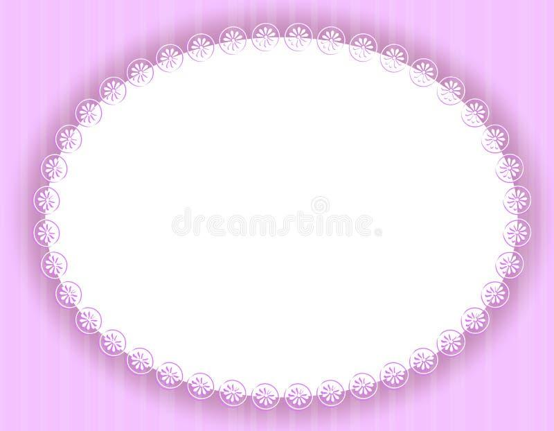 Beira ou frame decorativo roxo oval ilustração royalty free