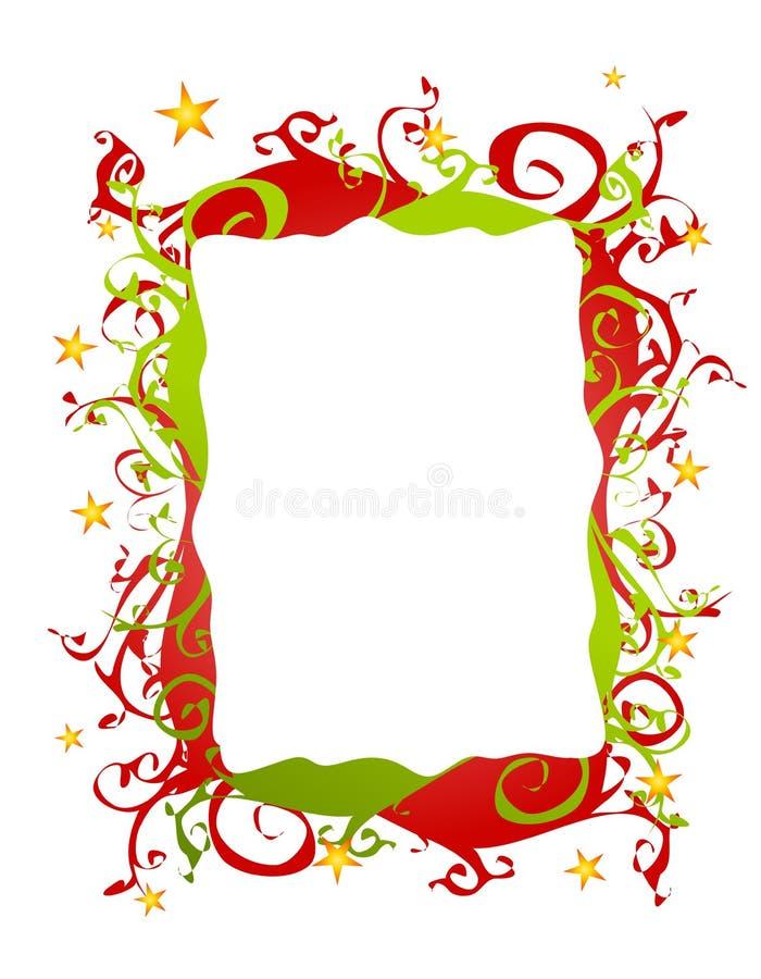 Beira ou frame Folksy abstrato do Natal ilustração stock