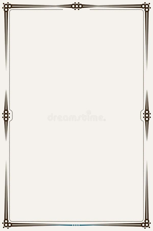 Beira ou quadro de Minimalistic ilustração royalty free