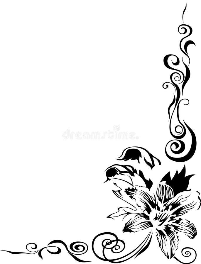 Beira preta do lírio ilustração royalty free