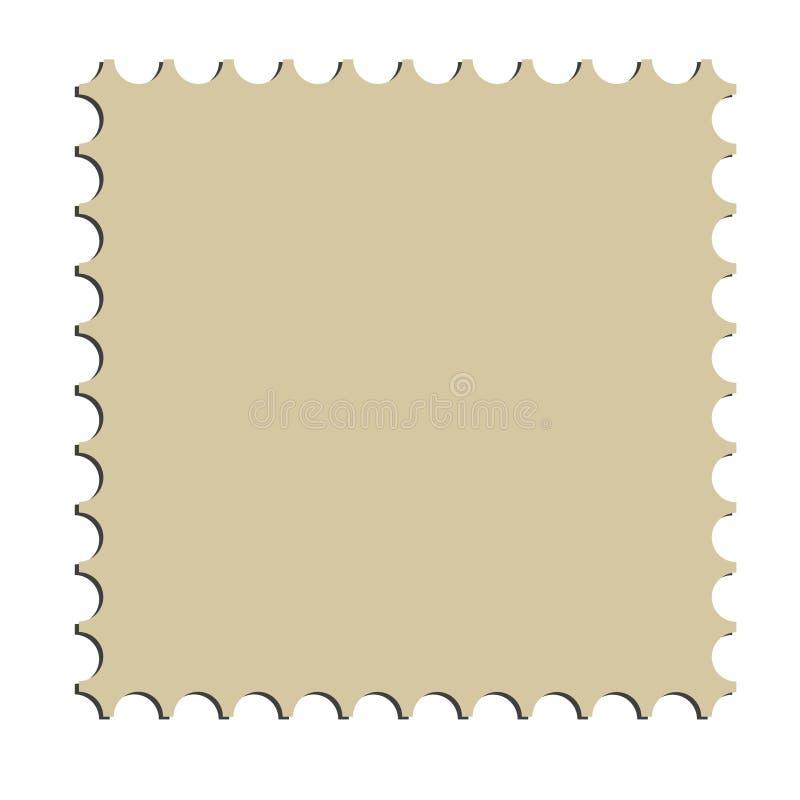 Beira quadrada do selo de porte postal (vetor) ilustração do vetor