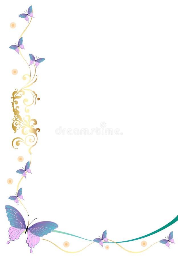 Beira/quadro da borboleta ilustração stock