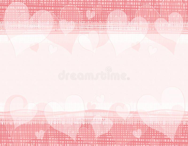 Beira rústica dos corações do Valentim da lona ilustração do vetor