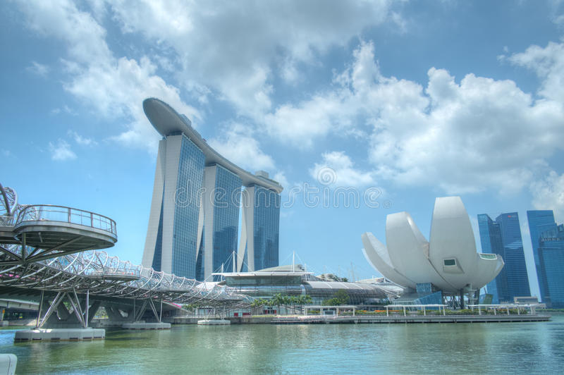 Areias da baía do porto e beira-rio, Singapore fotografia de stock