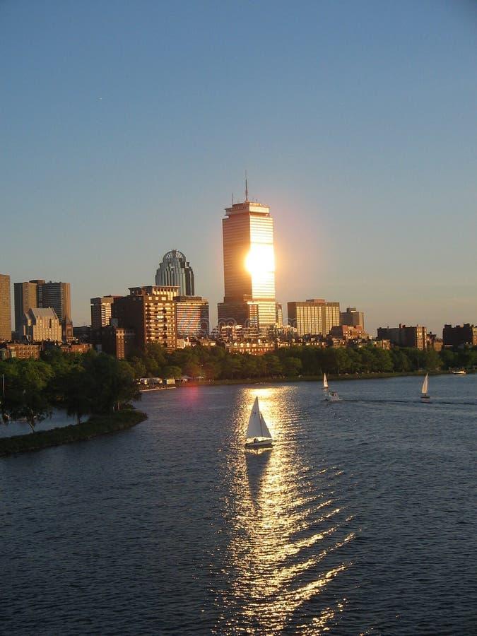 Beira-rio da baixa de Boston fotografia de stock royalty free