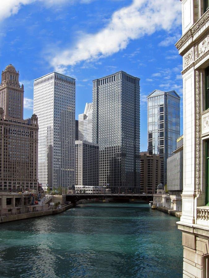 Beira-rio da baixa de Chicago imagem de stock