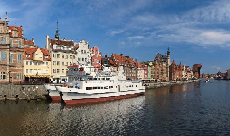 Beira-rio de Gdansk imagens de stock