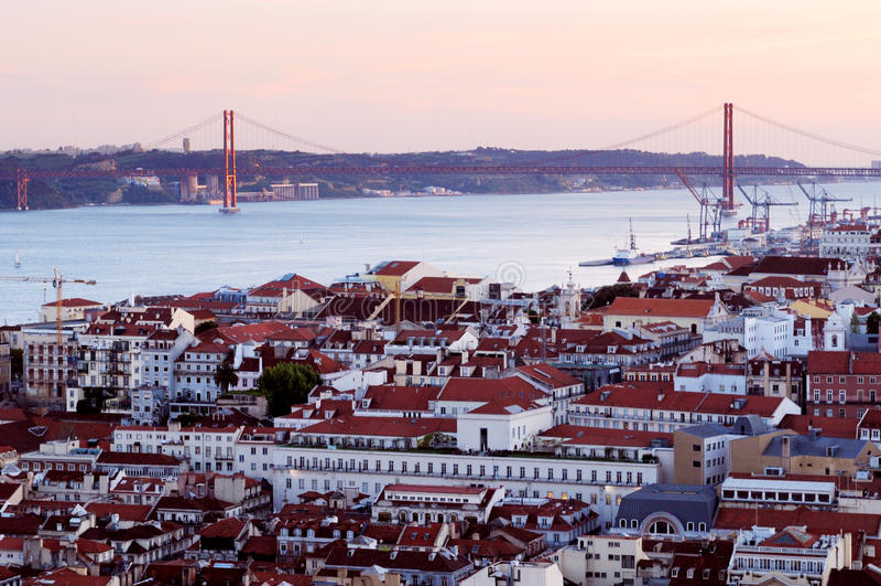 Beira-rio de Lisboa Portugal fotos de stock