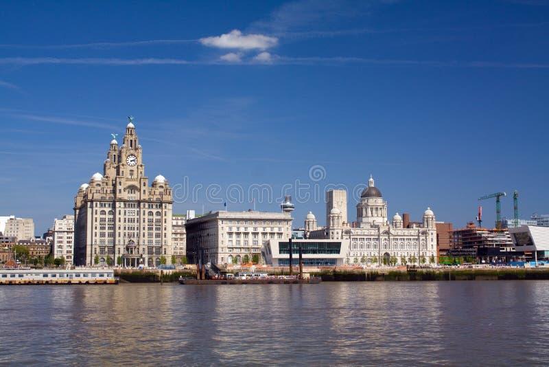 Beira-rio de Liverpool imagens de stock royalty free