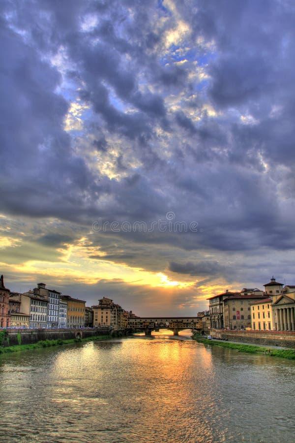 Beira-rio de Ponte Vecchio e de Florença fotos de stock royalty free