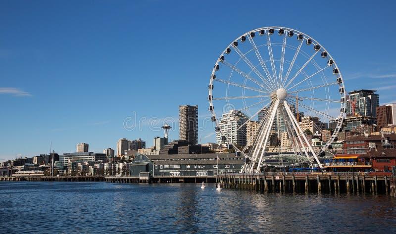 Beira-rio de Seattle imagens de stock