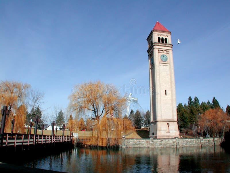 Beira-rio de Spokane fotos de stock