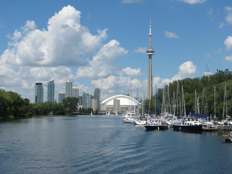 Beira-rio de Toronto fotografia de stock