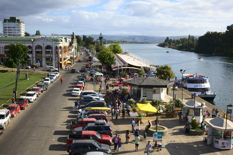 Beira-rio de Valdivia, o Chile fotos de stock royalty free