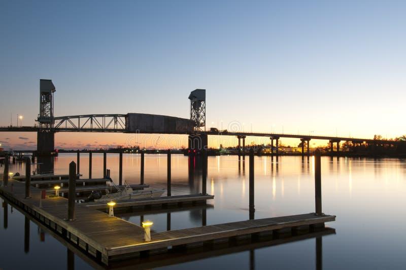 Beira-rio de Wilmington imagens de stock royalty free