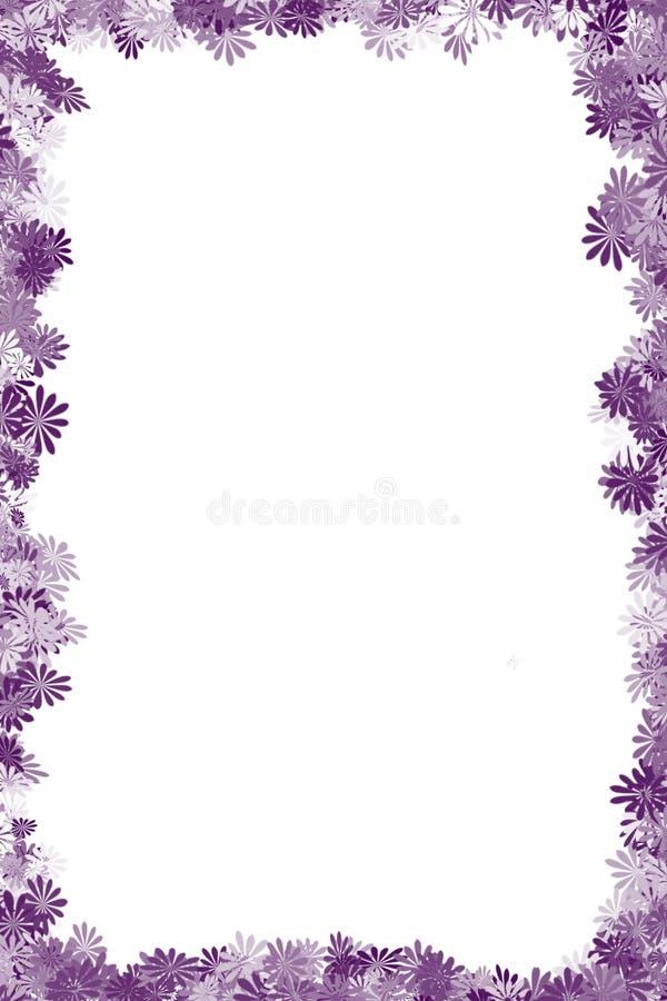 Beira roxa da flor ilustração stock