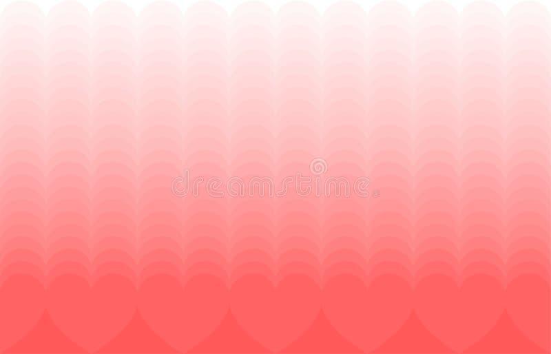 Beira sem emenda do teste padrão do dia de Valentim com corações Fundo sem emenda do vetor ilustração stock