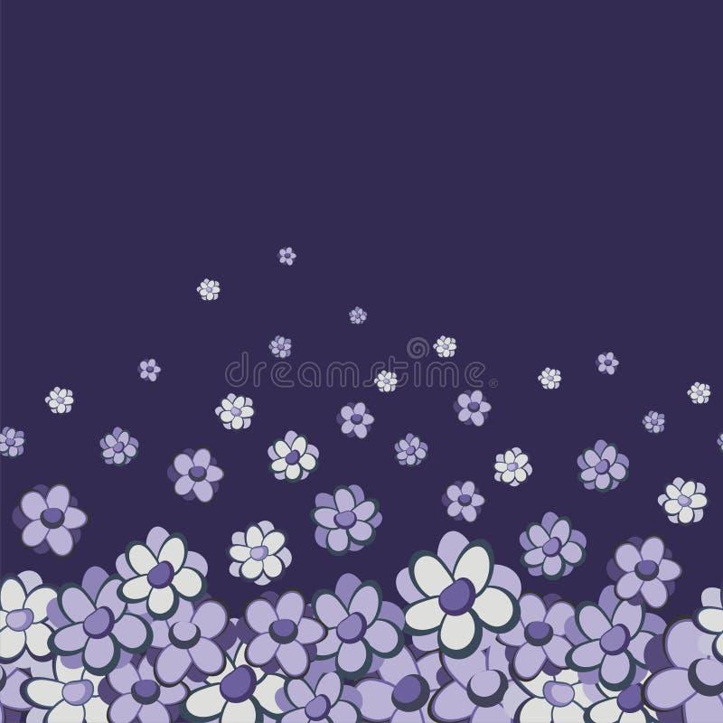 Beira sem emenda floral do vintage ilustração do vetor