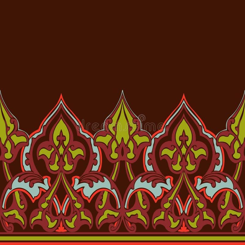 Beira sem emenda ornamentado do vetor no estilo oriental ilustração royalty free