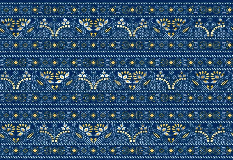 Beira tradicional sem emenda de paisley do indiano ilustração royalty free