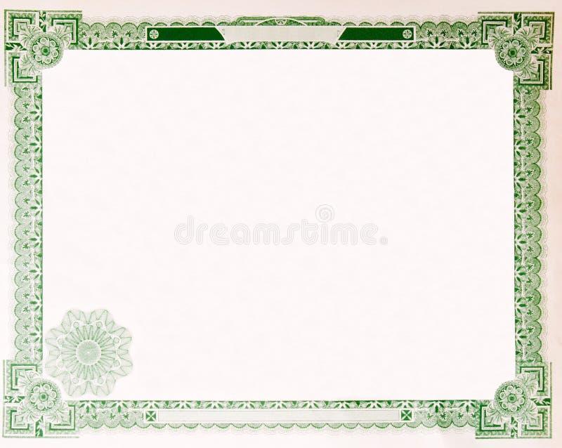 Beira vazia velha 1914 do certificado conservado em estoque do vintage imagem de stock royalty free