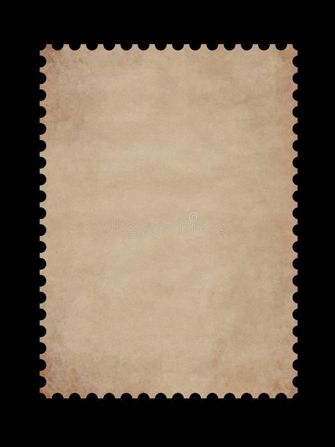 Beira velha do selo de porte postal ilustração do vetor