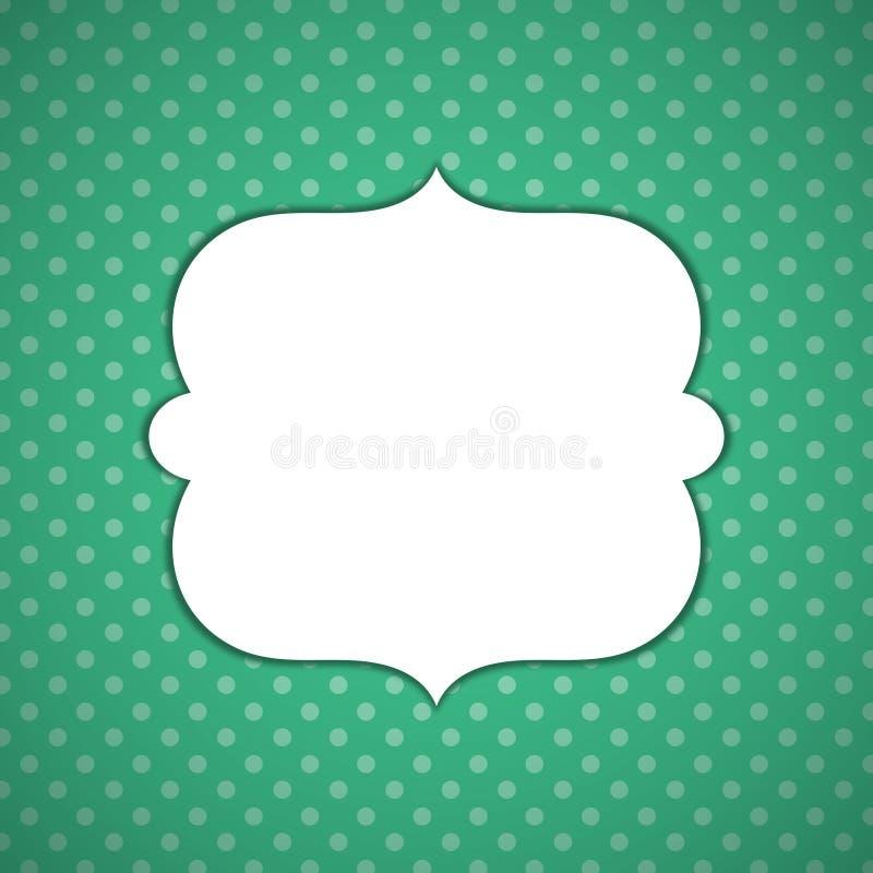 Beira verde do molde do quadro dos pontos fotos de stock royalty free