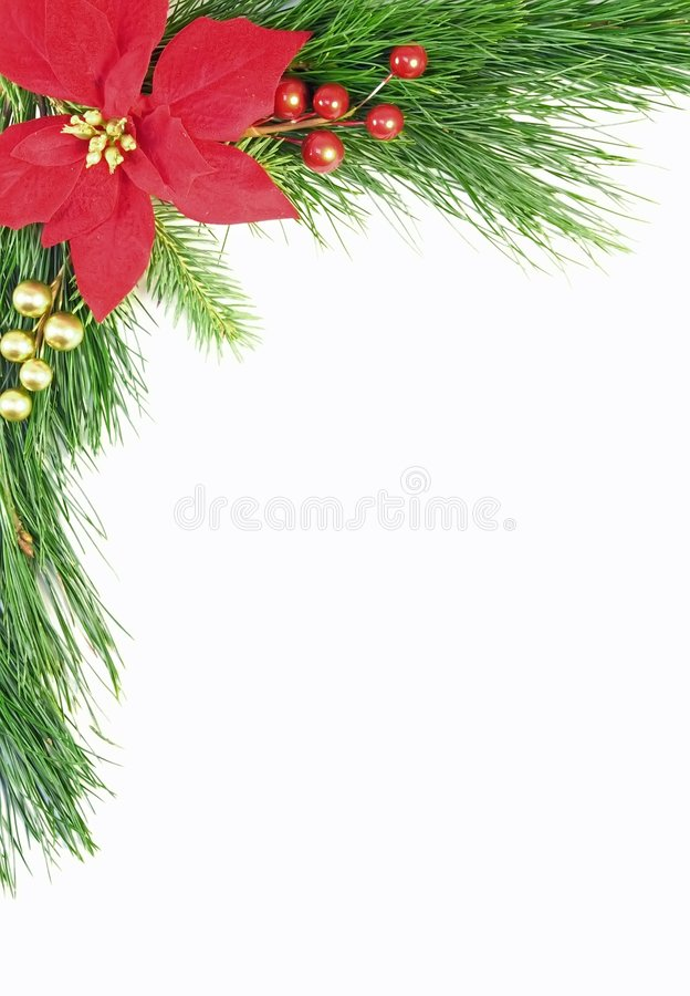 Beira verde do Natal fotos de stock