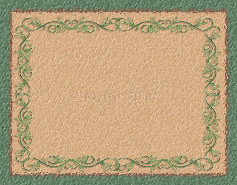 Beira verde no papel grosseiro ilustração stock