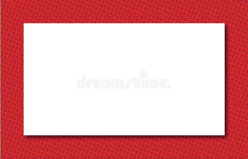 Beira vermelha da zona ilustração stock