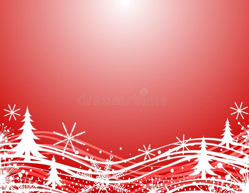 Beira vermelha do Natal do inverno ilustração royalty free