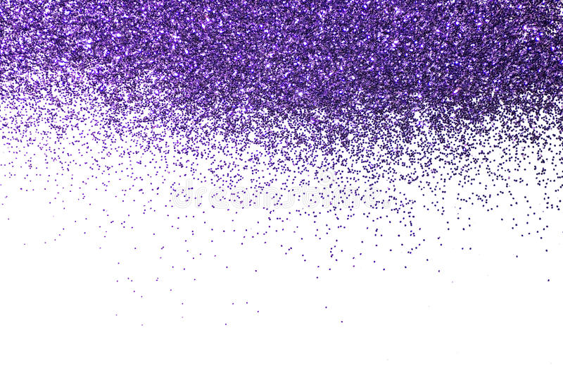 Beira violeta Lantejoulas Brilho efervescente pó glitter Fundo de brilho fotos de stock royalty free