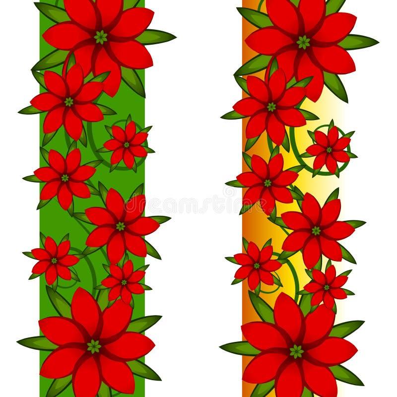 Beiras da página do Poinsettia do Xmas ilustração royalty free