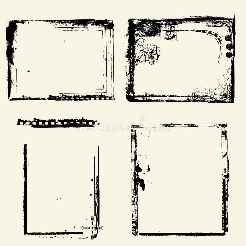 Beiras de Grunge ilustração do vetor