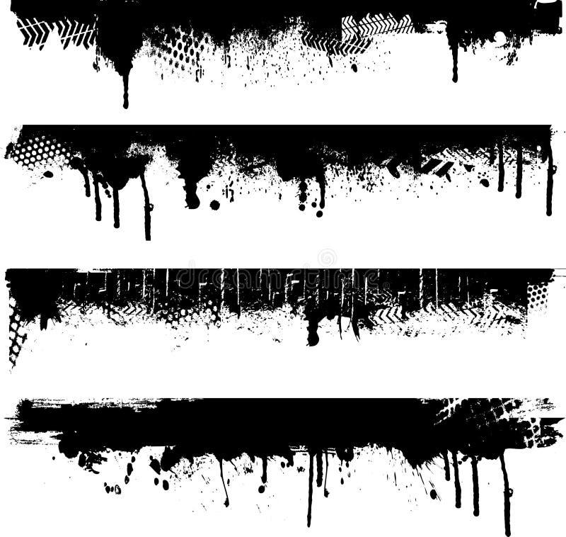 Beiras de Grunge ilustração stock