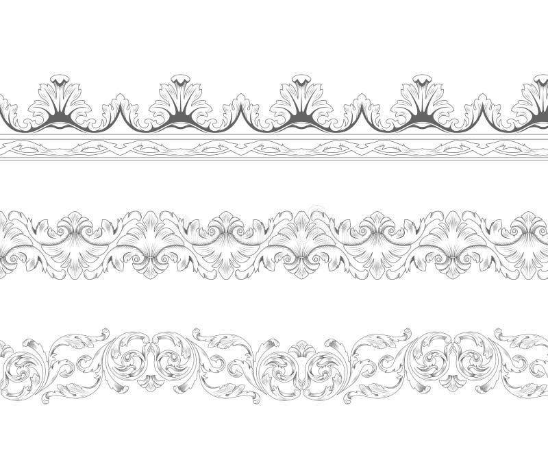 Beiras decorativas ilustração stock