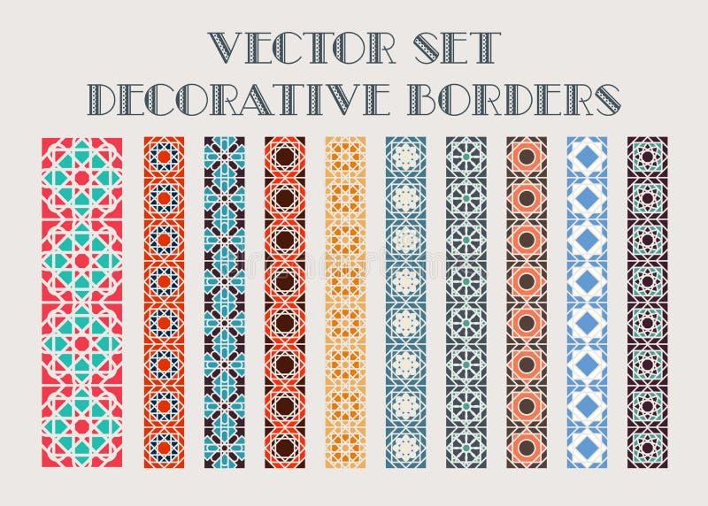 Beiras decorativas do vetor ilustração royalty free