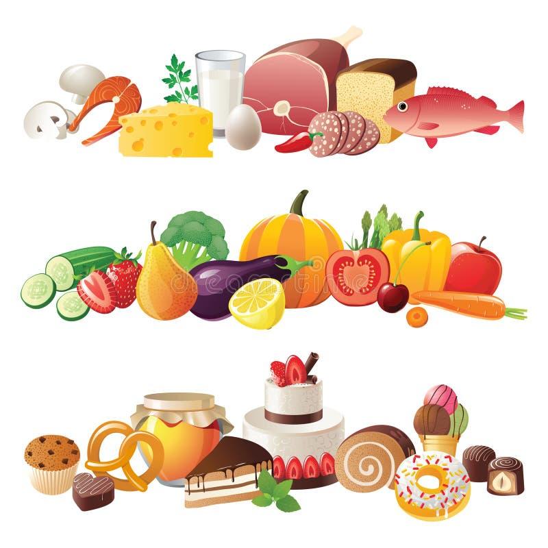 Beiras do alimento ilustração royalty free