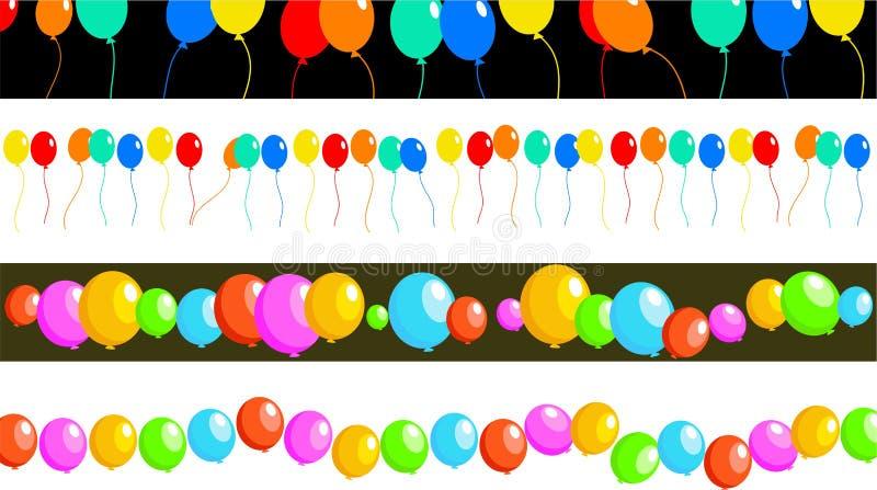 Beiras do balão ilustração stock