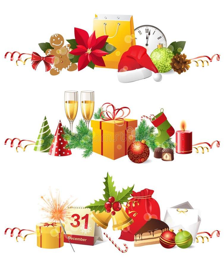 Beiras do Natal ilustração do vetor