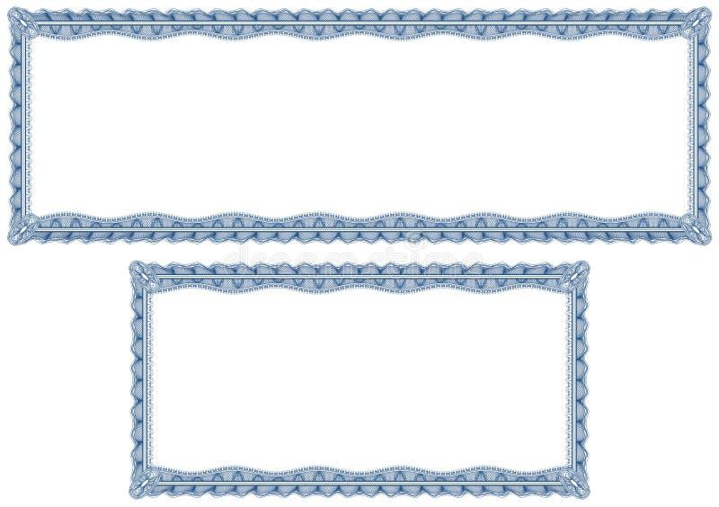 Beiras em branco do guilloche para o diploma ou o certificado ilustração stock