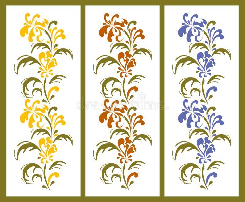 Beiras florais ilustração stock
