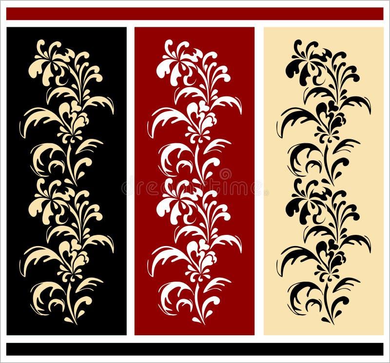 Beiras florais ilustração royalty free