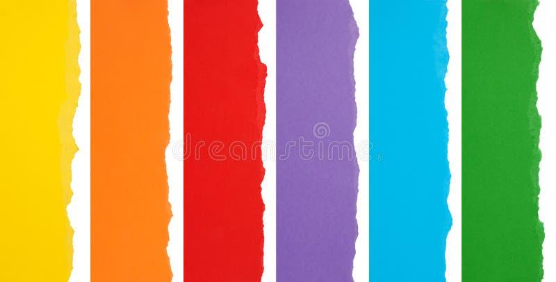Beiras rasgadas coloridas imagens de stock